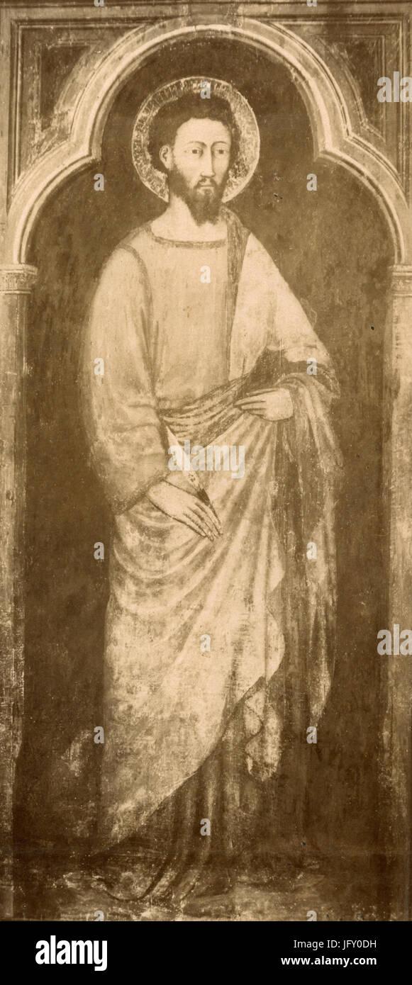 Saint Bartholomew, painting by Martino da Verona, Verona, Italy - Stock Image