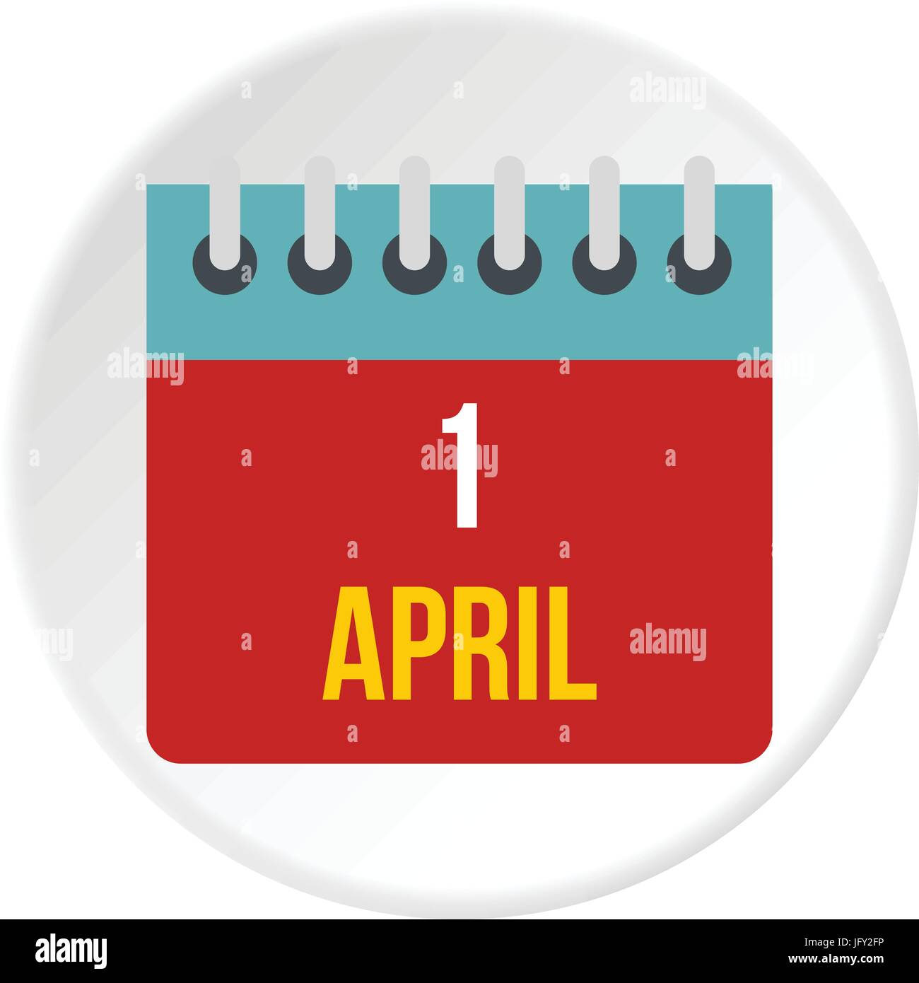 Calendar April 1 icon circle - Stock Image