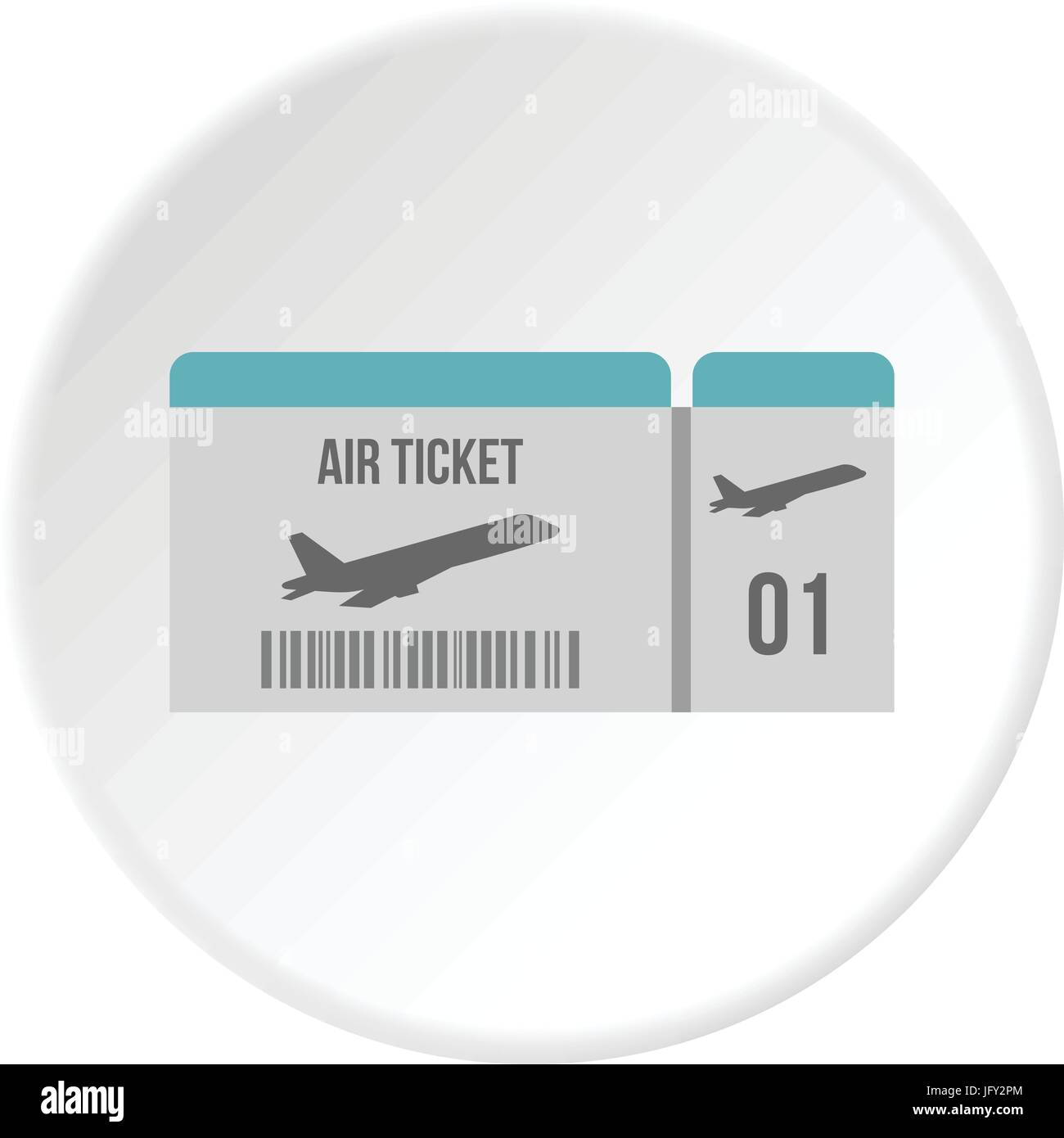Air ticket icon circle - Stock Image