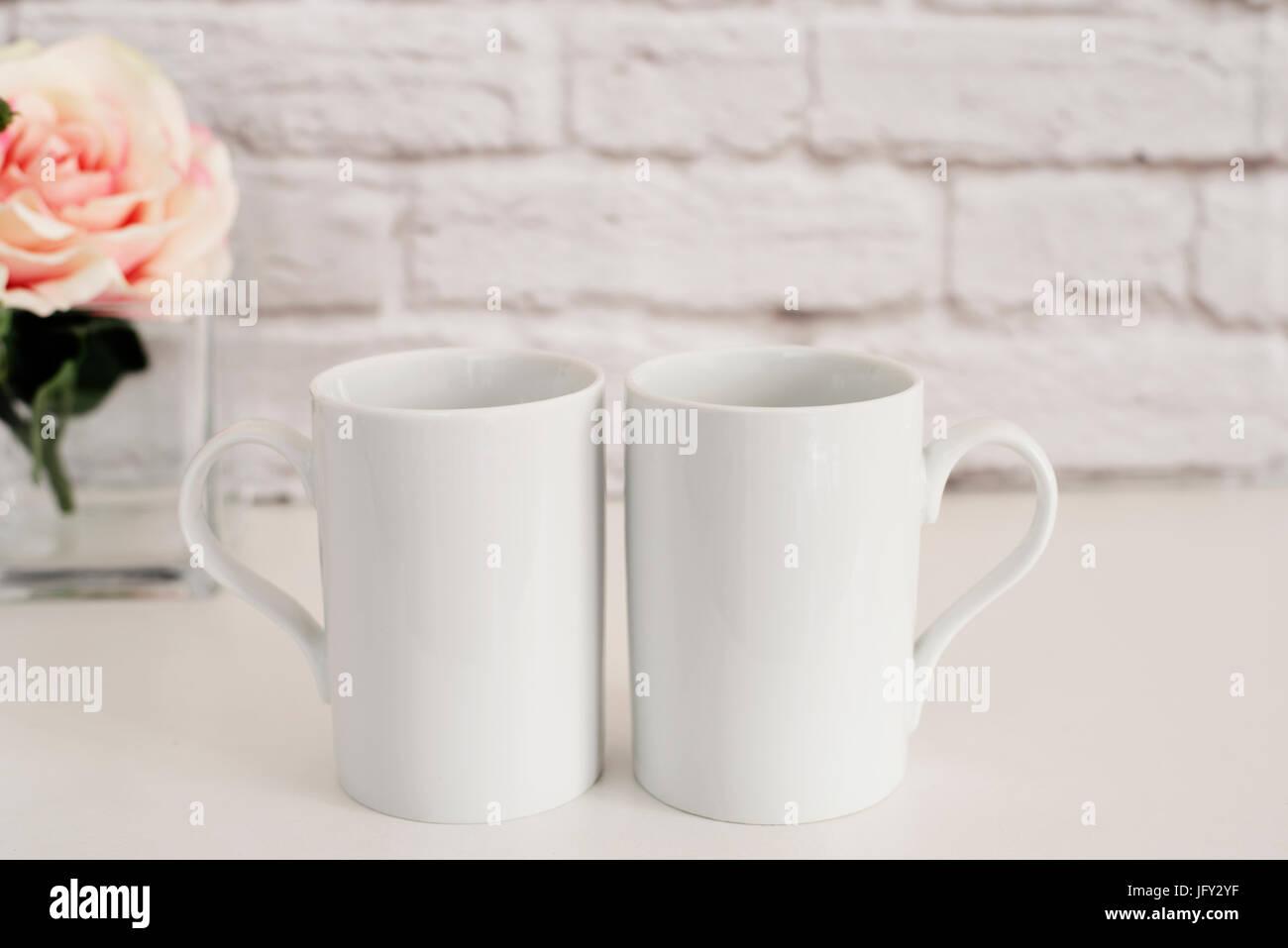 two mugs white mugs mockup blank white coffee mug mock up styled
