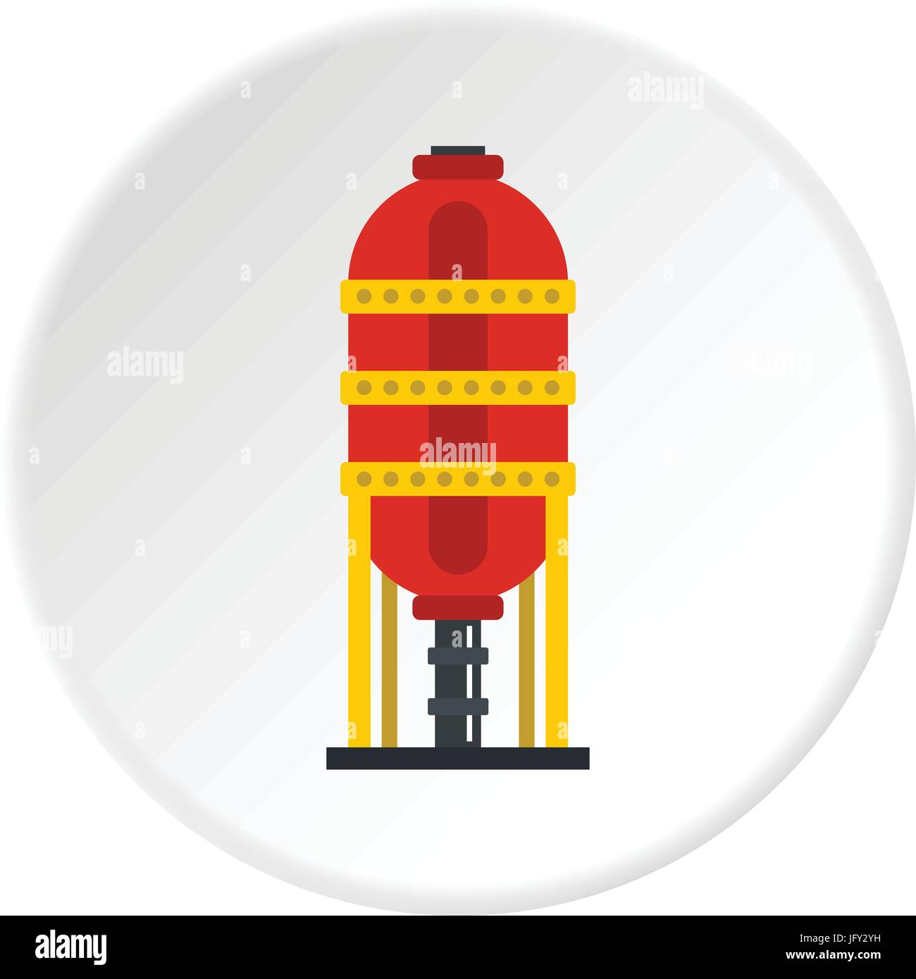 Capacity for oil storage icon circle - Stock Vector