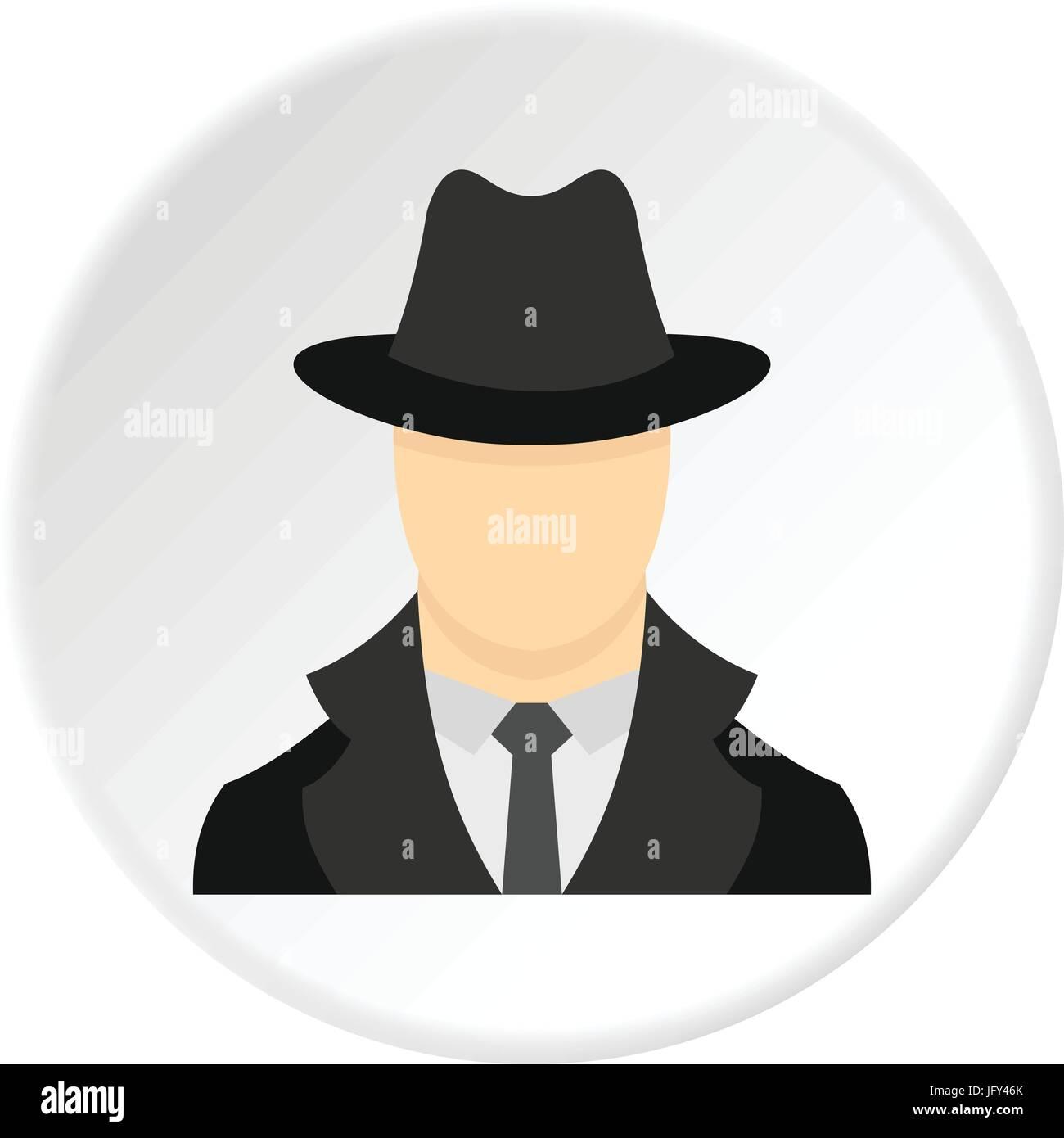 Spy icon circle Stock Vector