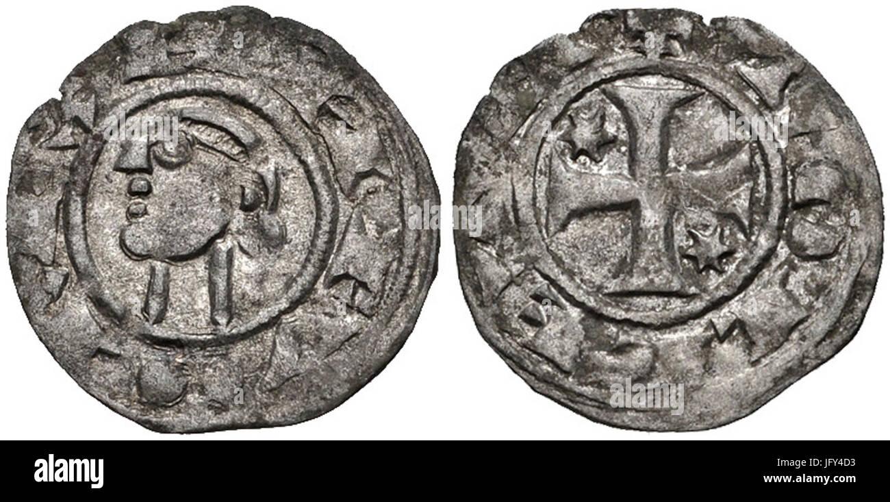 Dinero Alfonso I el Batallador 28theBattler29 - Stock Image