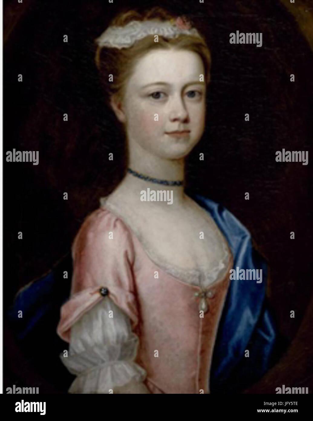 Dorothy Savile Portrait of Lady Charlotte Boyle Marchioness of Hartington 281731-175429 circa 1740 Chatsworth House. - Stock Image