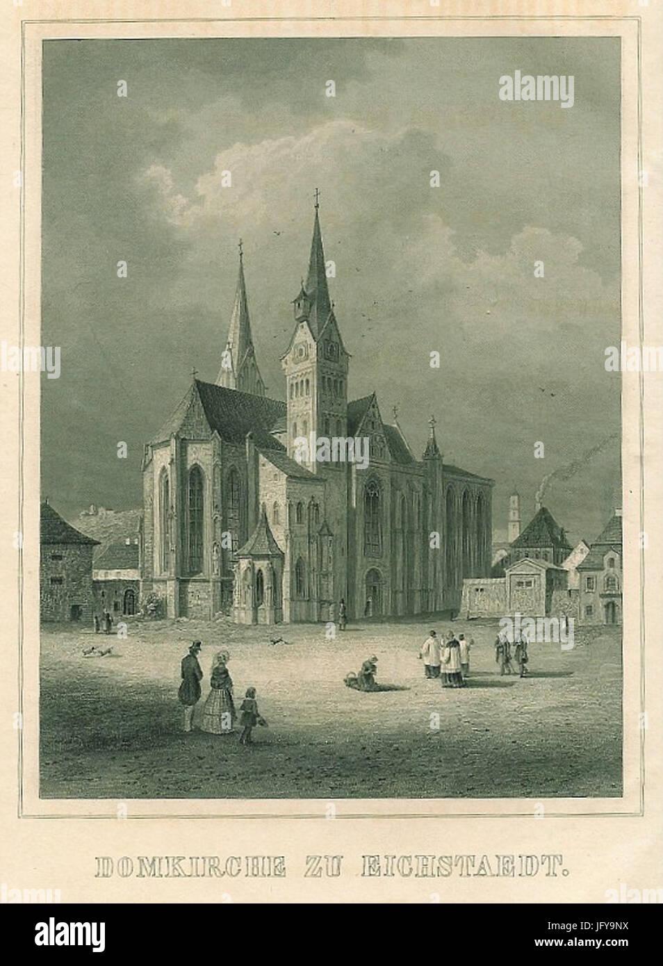 Eichstätt Dom Stahlstich - Stock Image