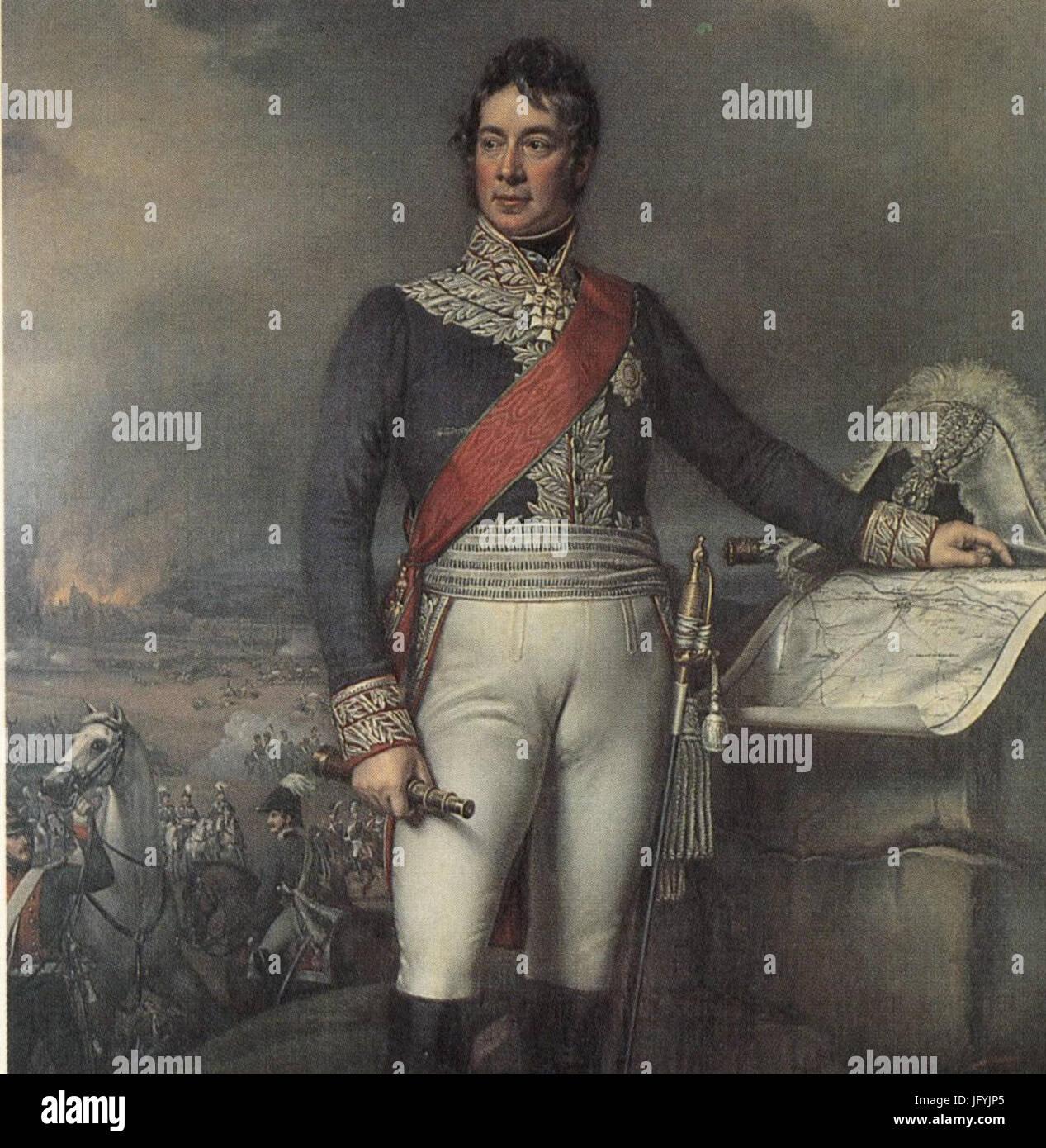 Feldmarschall Fürst von Wrede - Stock Image
