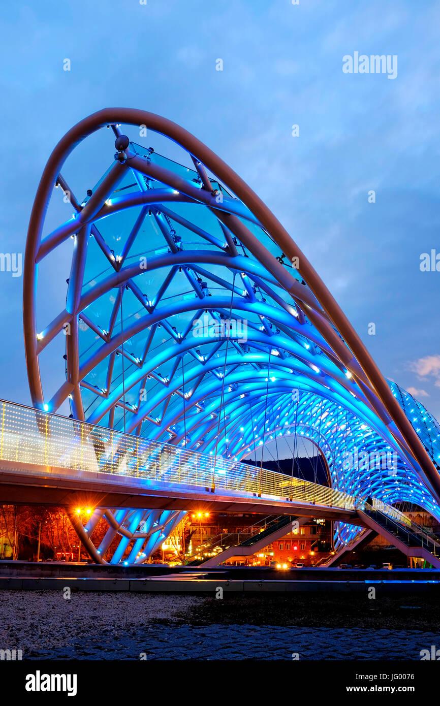 Bridge of Peace, Tbilisi, Georgia - Stock Image