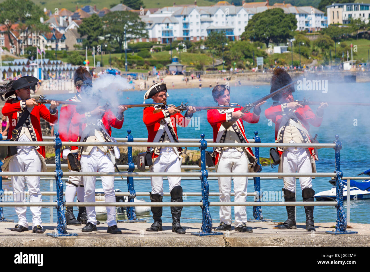Swanage, Dorset, UK 2nd July 2017. Crowds descend on Swanage for the Purbeck Pirate Festival, to raise money for - Stock Image