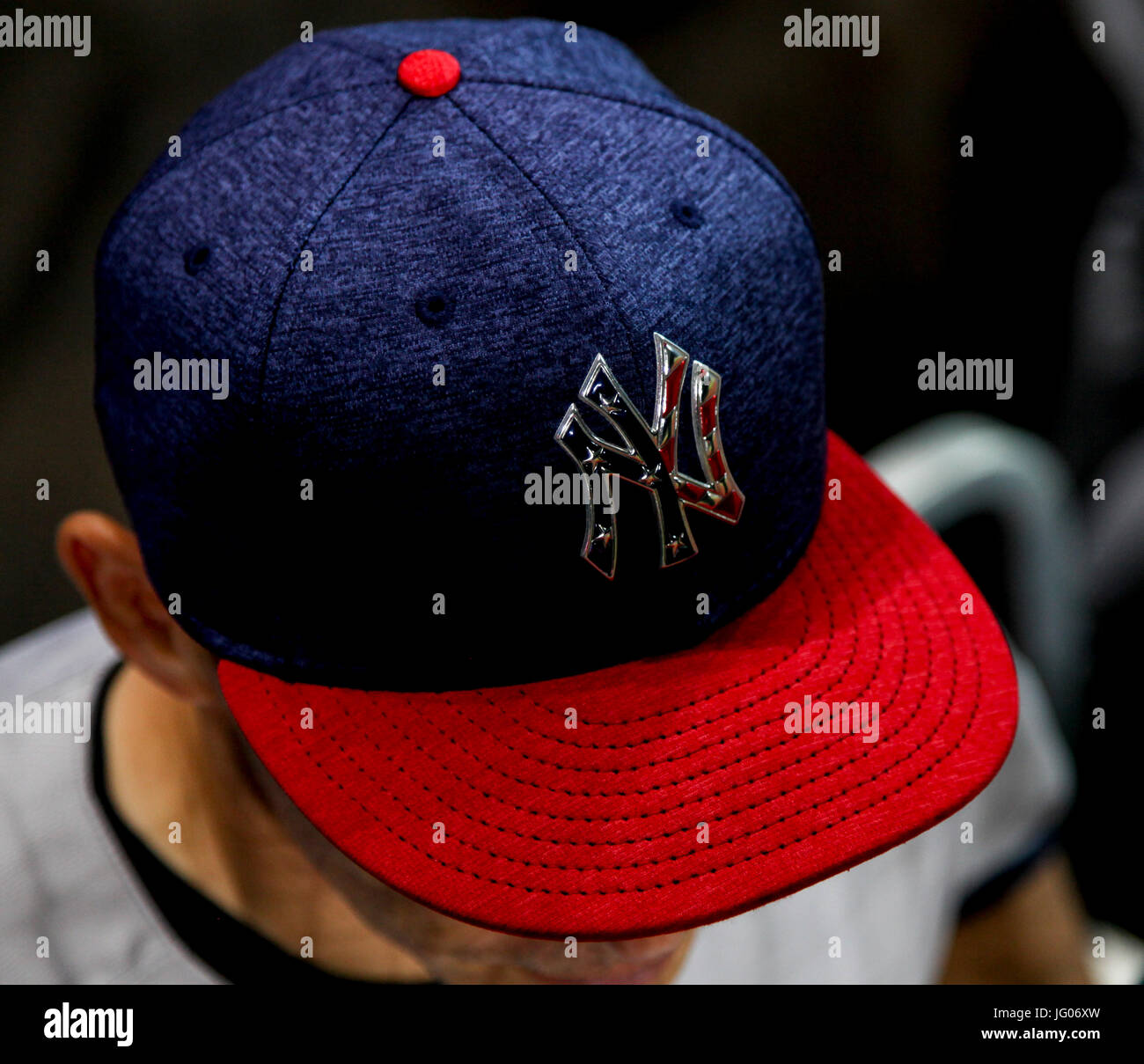30c5f55cf1b New York Yankees Hat Stock Photos   New York Yankees Hat Stock ...