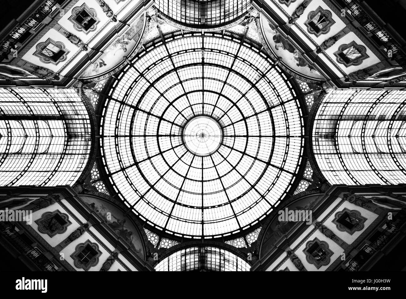 The Galleria Vittorio Emanuele II complex in Milan - Stock Image