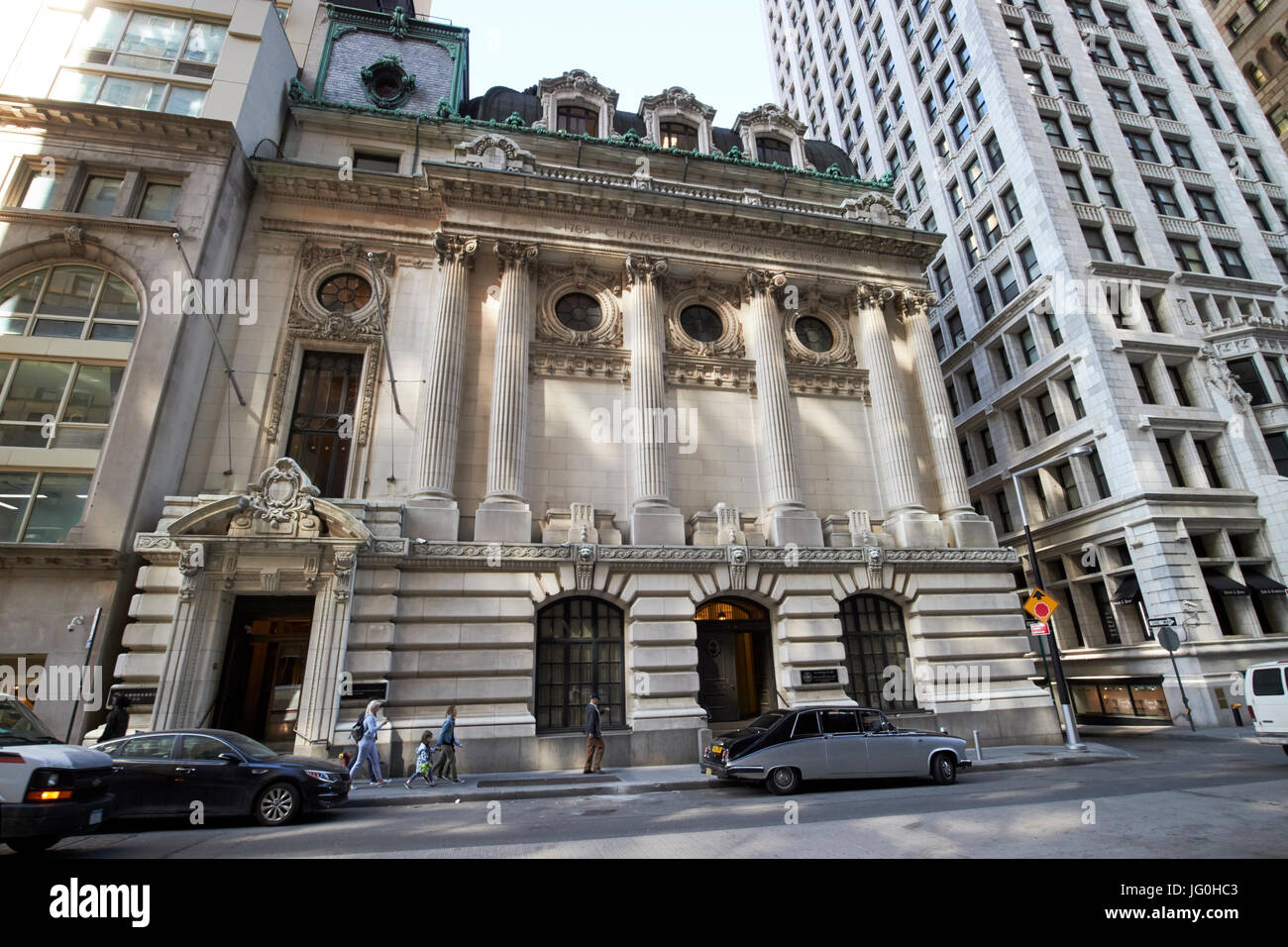 chamber of commerce of the state of New York building USA - Stock Image