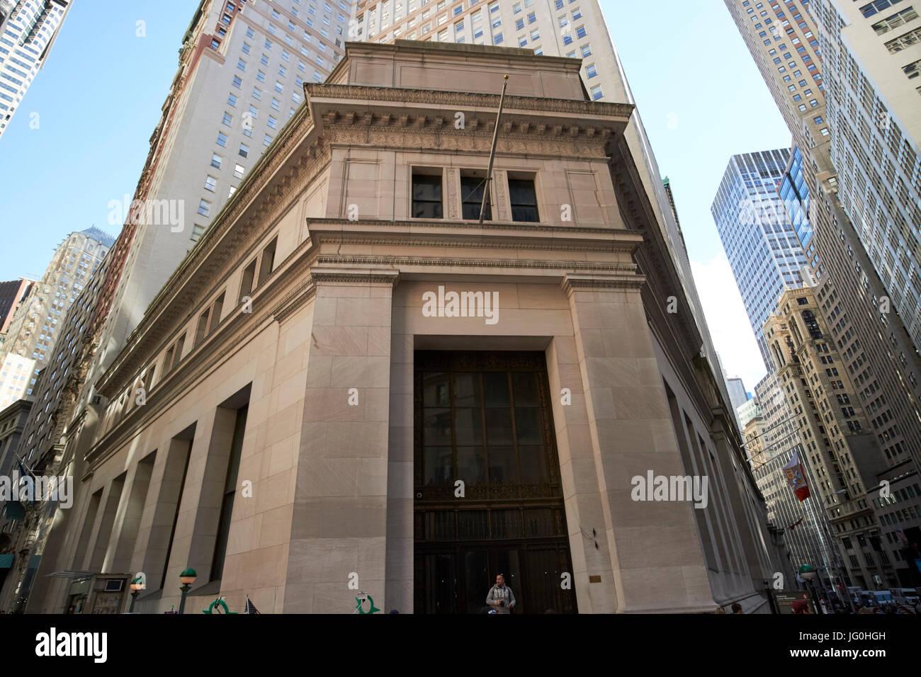 23 wall street New York City USA - Stock Image