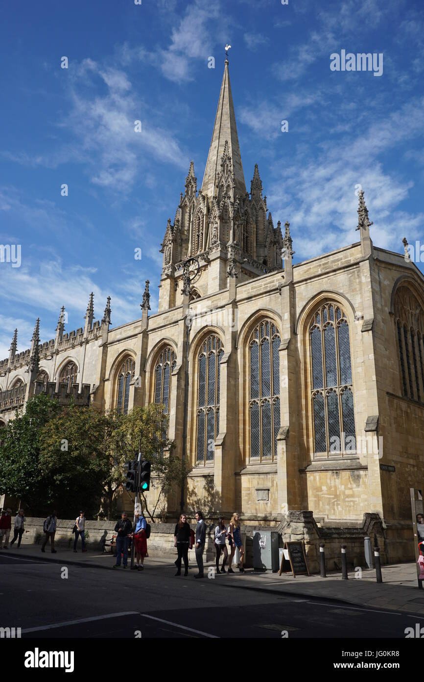 St. Mary's Church, Oxford - Stock Image