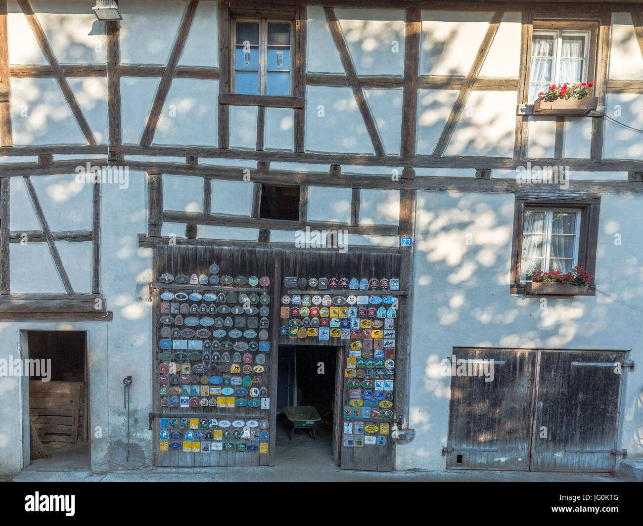 Village photos of Rüdlingen - Stock Image