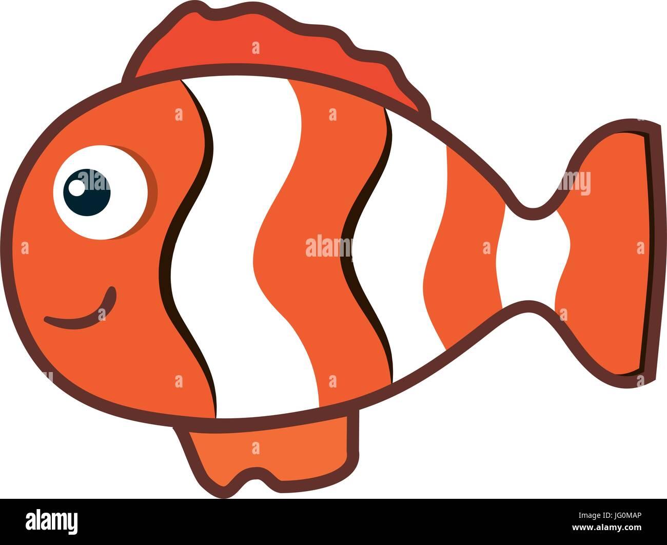 cute ornamental fish icon Stock Vector Art & Illustration, Vector ...