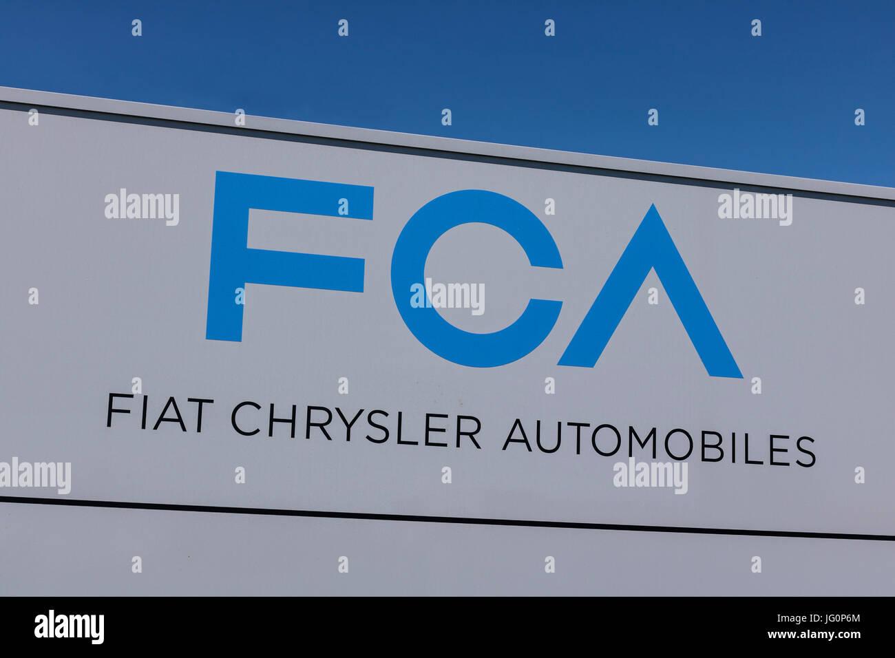 Kokomo - Circa June 2017: FCA Fiat Chrysler Automobiles Transmission Plant. FCA sells vehicles under the Chrysler, Stock Photo