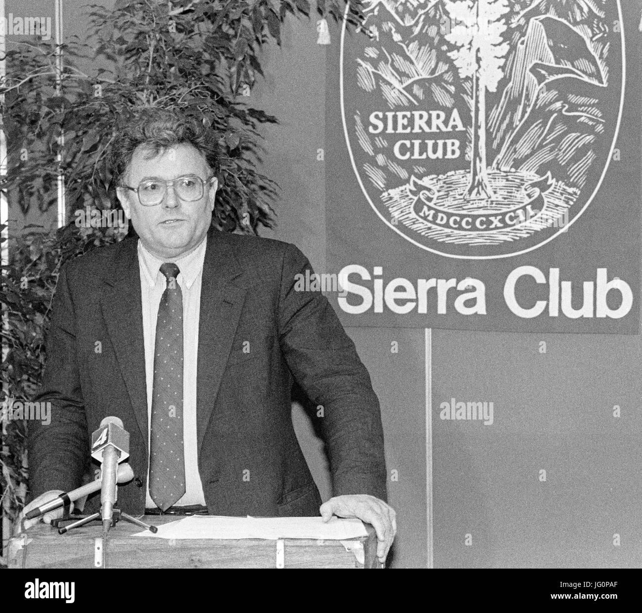 Harry Britt, former San Francisco Supervisor succeeding Harvey Milk. Speaking at the Sierra Club. - Stock Image
