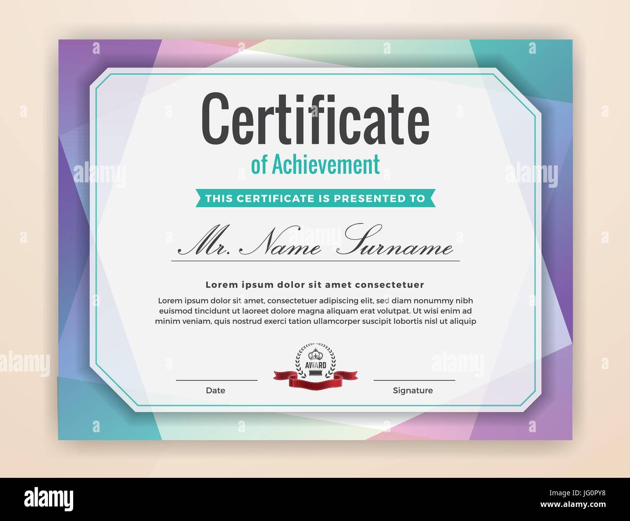 Multipurpose Modern Professional Certificate Template Design for ...