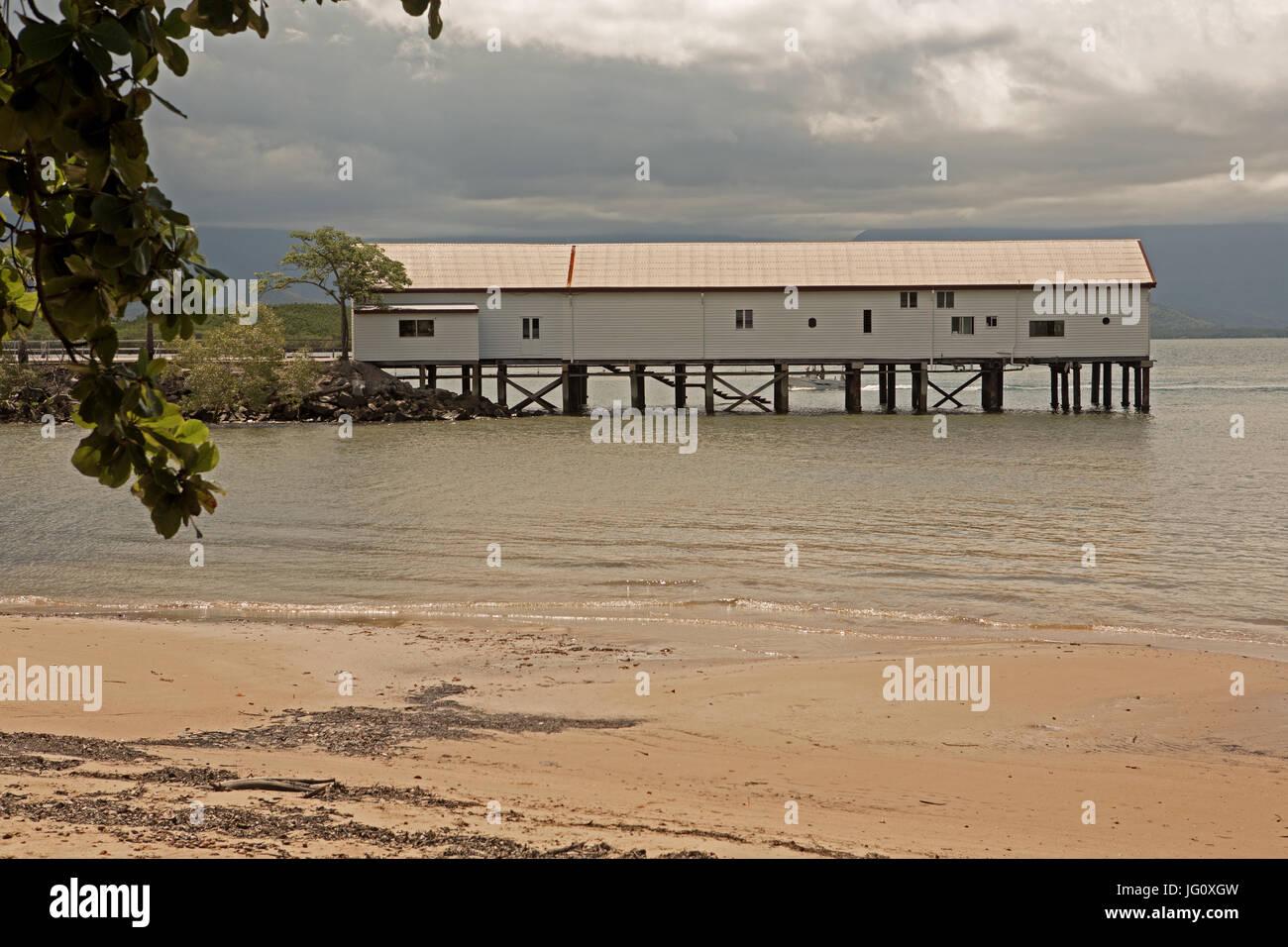 Port Douglas wharf Tropical Queensland - Stock Image