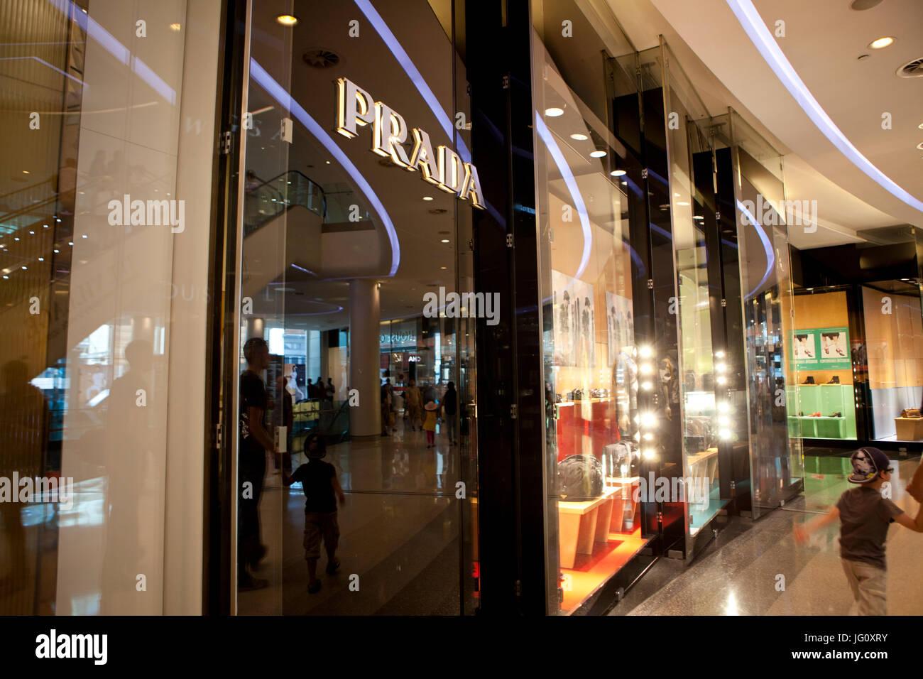 Shops in Westfield London, England - Stock Image
