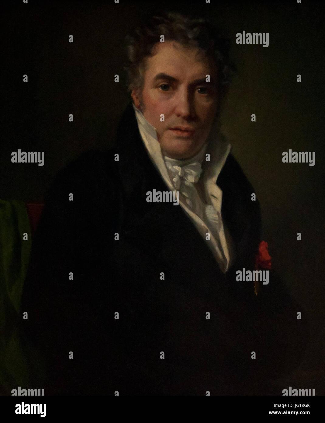 François-Joseph Navez (1787-1869) - Portret van Jacques-Louis David (1817) - MSK Brussel 25-02-2011 13-15-36 Stock Photo