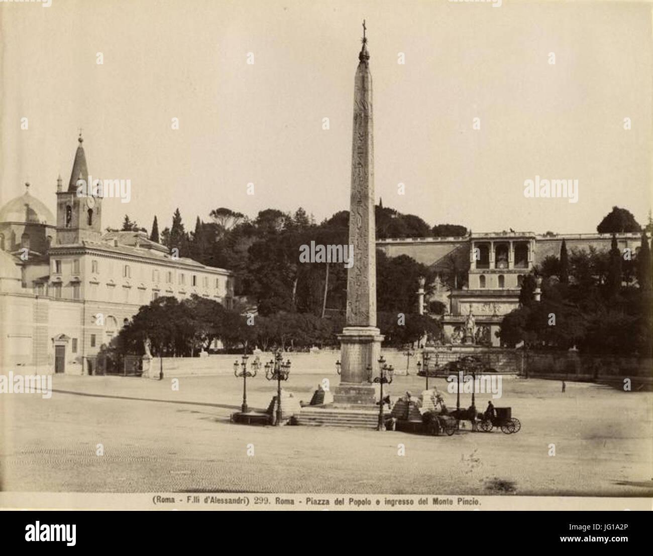 Fratelli D Alessandri - n. 299 - Roma - Piazza del Popolo e ingresso del Monte Pincio - Stock Image