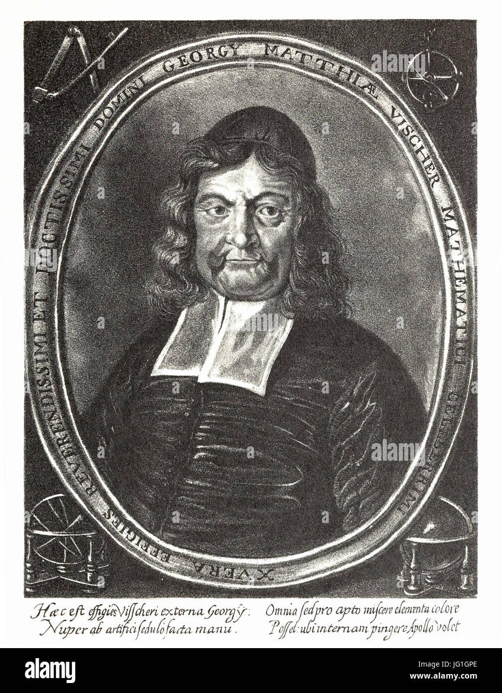 Georg Matthäus Vischer - Portrait 1684 Stock Photo