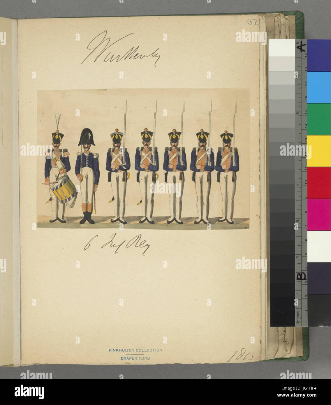 Germany, Württemberg, 1813-1814 (NYPL b14896507-1515494) - Stock Image
