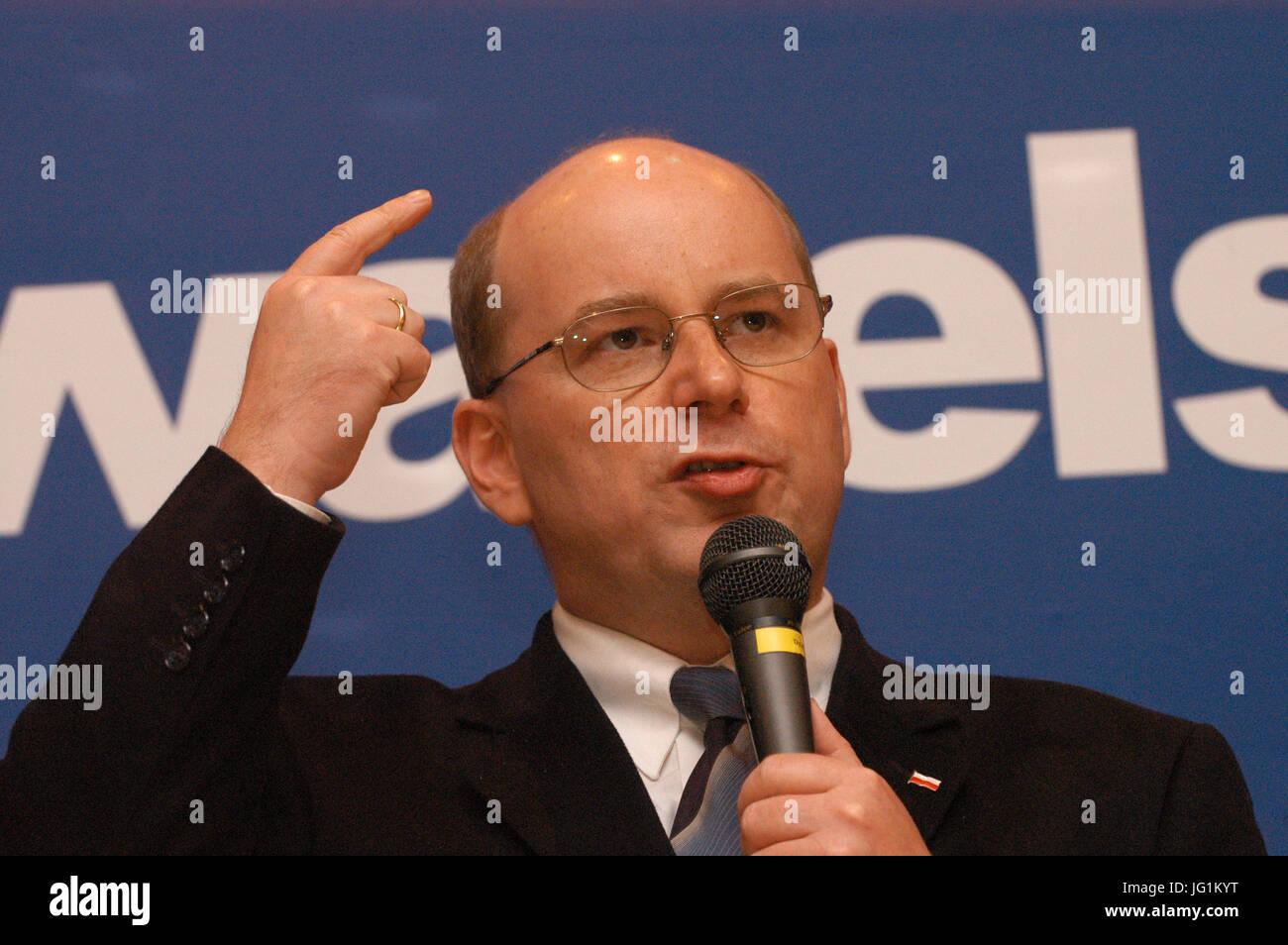 Jan Władysław Rokita (born June 18, 1959 in Cracow) Polish politician and publicist, 1992-1993 minister, deputy - Stock Image