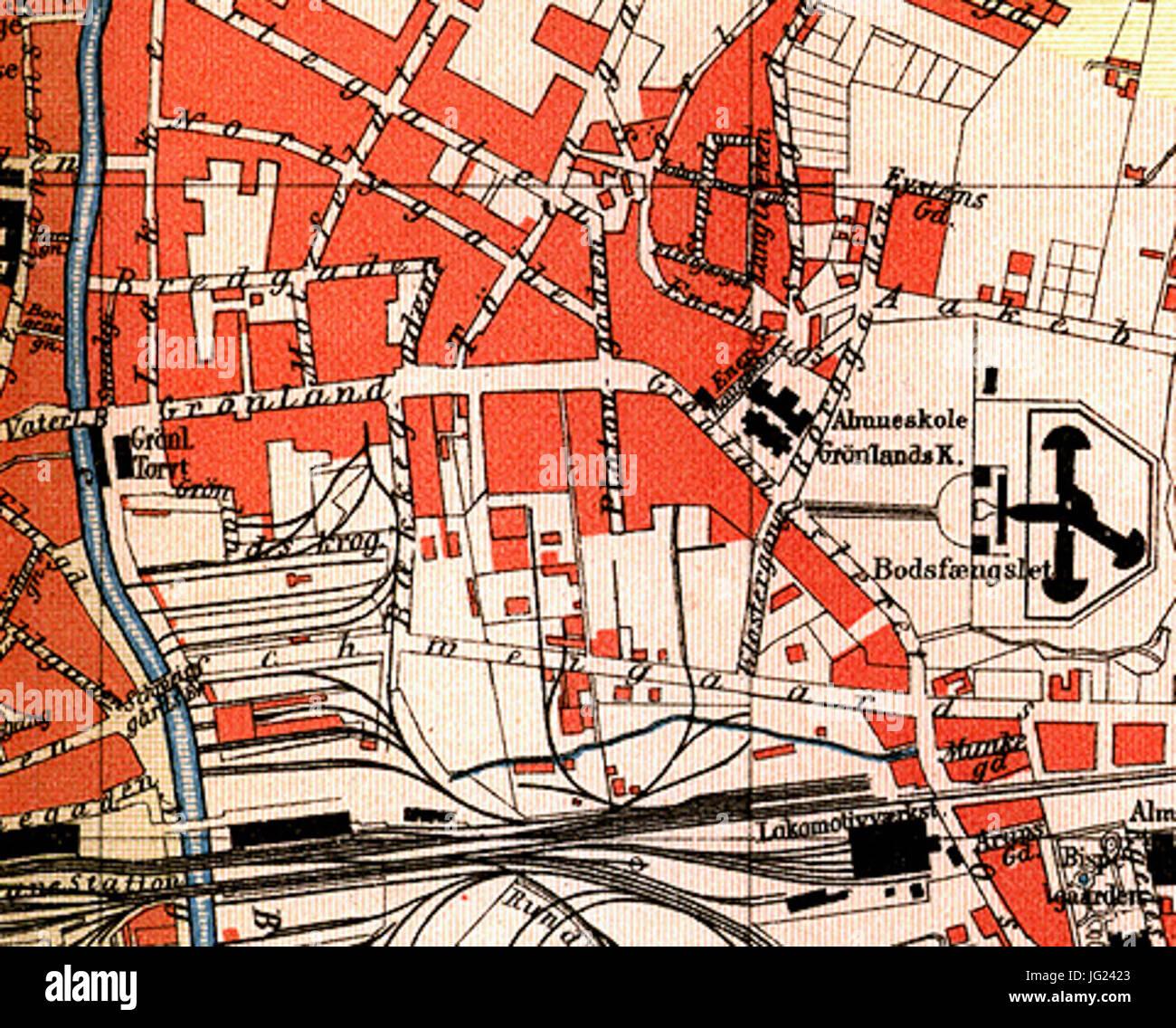 kart grønland oslo Grønland Oslo kart 1887 Stock Photo: 147564539   Alamy kart grønland oslo