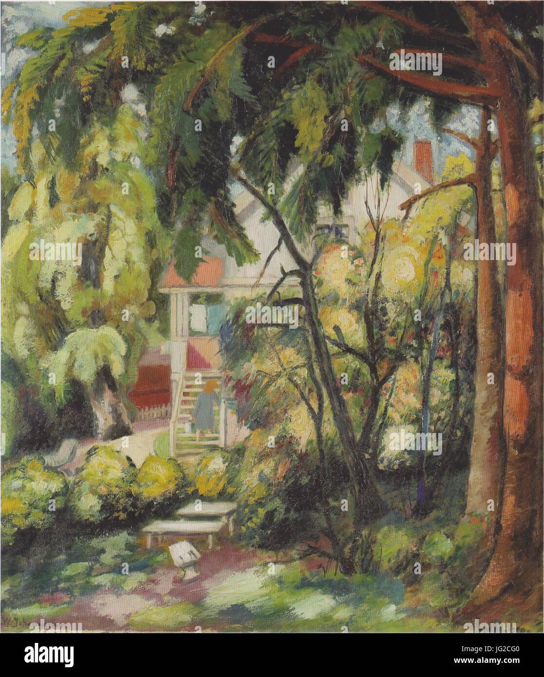 Johannessen - Das Sommerhaus des Künstlers in Asker - 1916 - Stock Image