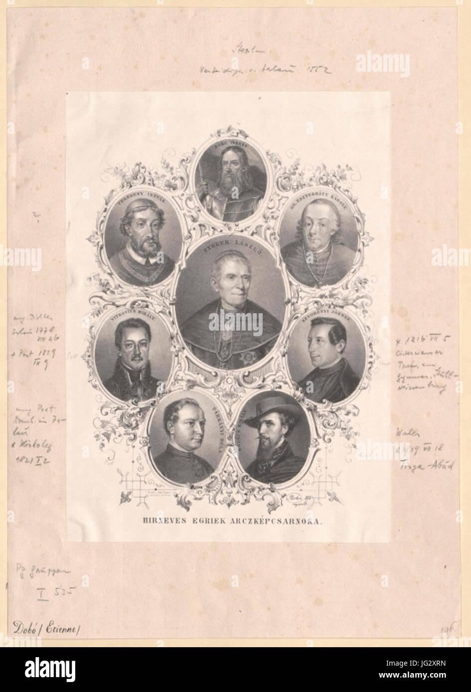 Gruppenbild Acht berühmte Persönlichkeiten von Erlau - Stock Image