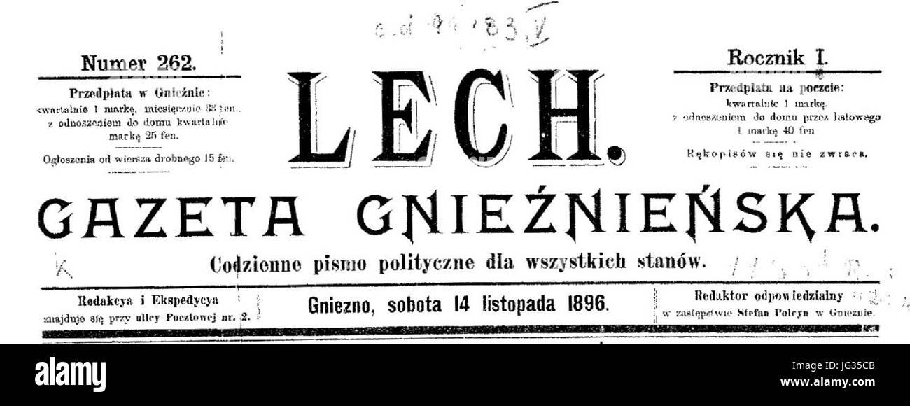 Lech Gazeta Gnieźnieńska Stock Photo 147587563 Alamy