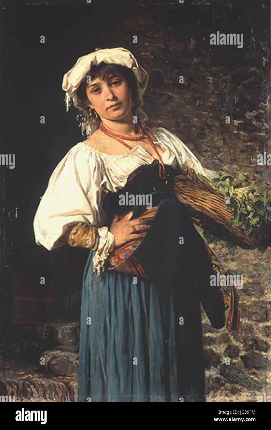 Gustav Adolf Kuntz - Römische Gemüseverkäuferin - Stock Image