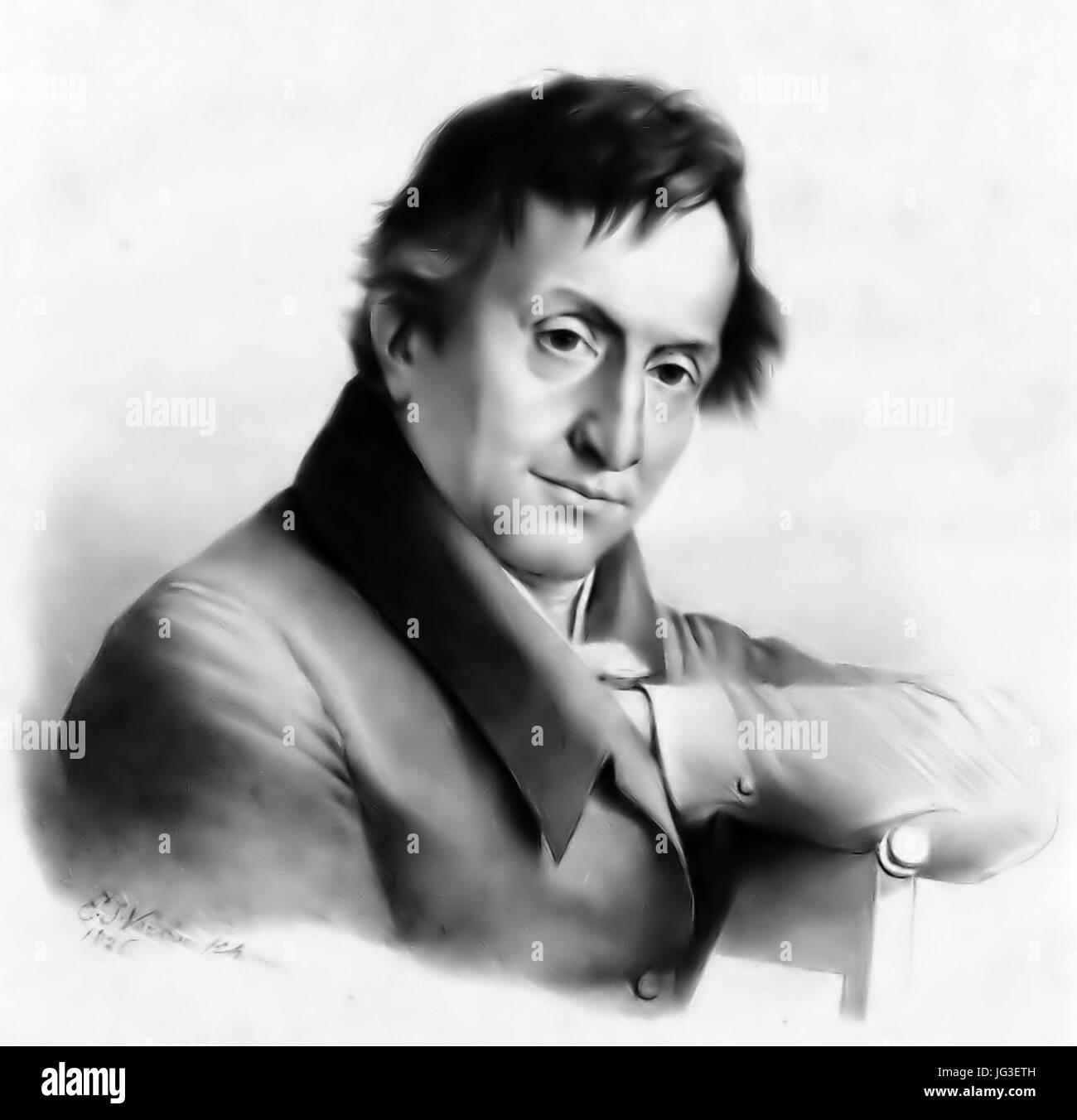 Henri Van Assche, after Eugène Joseph Verboeckhoeven - Stock Image