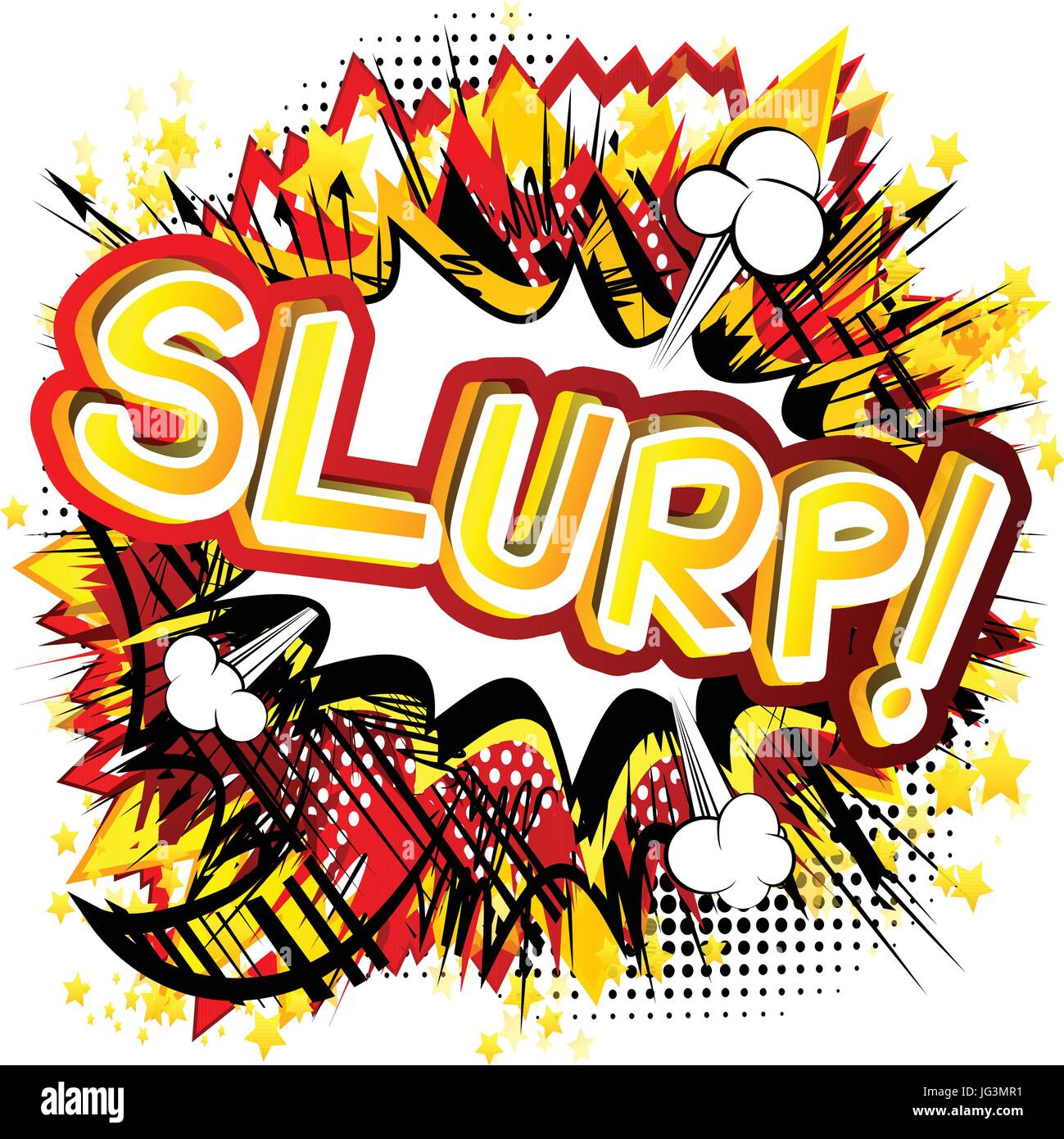 Slurp! - Vector illustrated comic book style expression. - Stock Image
