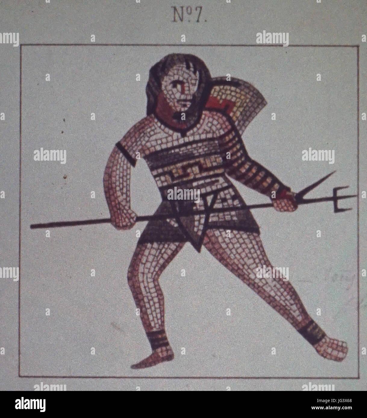 Mosaique N°7 jeux du cirque des promenades - Stock Image