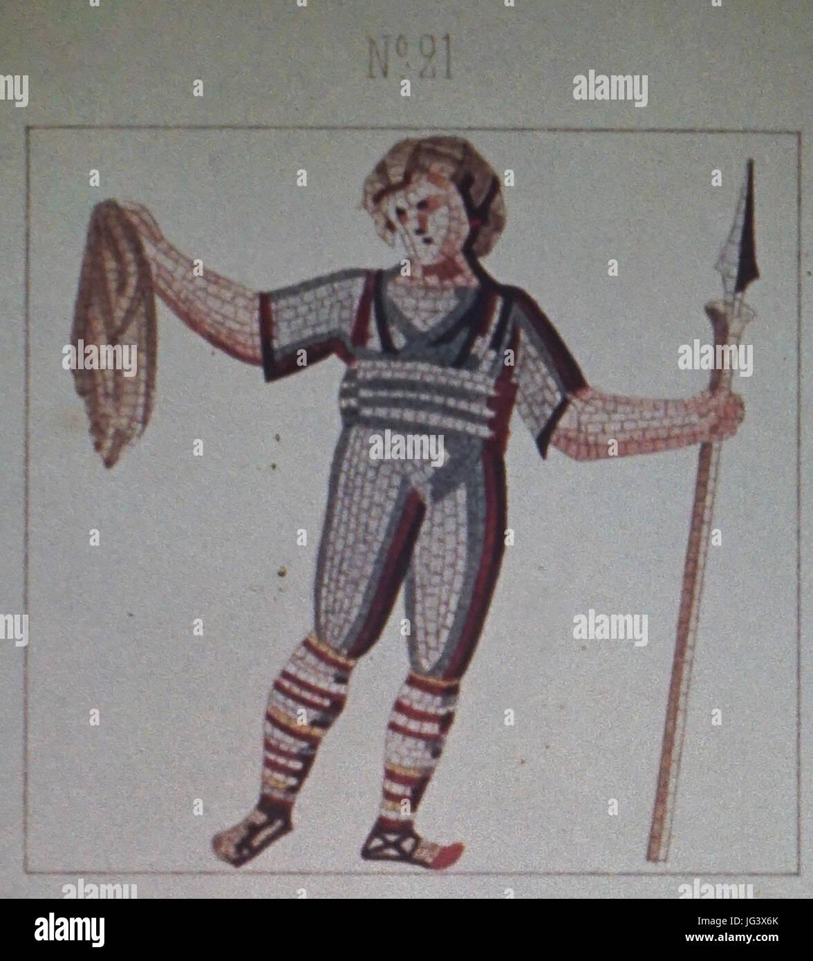 Mosaique N°21 jeux du cirque des promenades - Stock Image