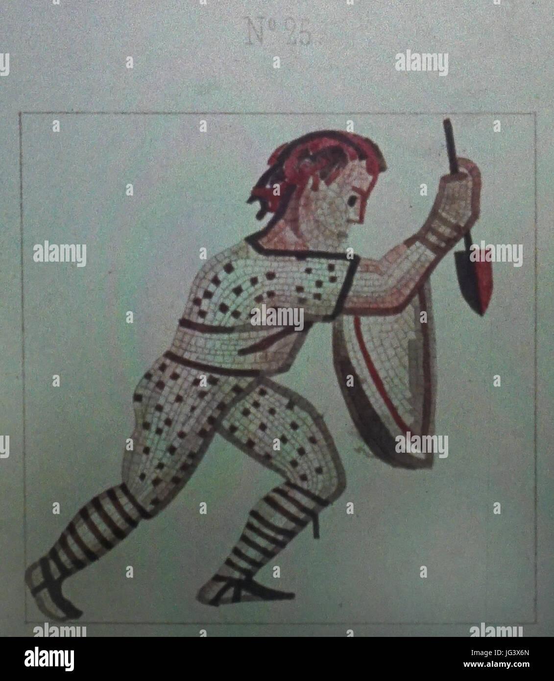 Mosaique N°25 jeux du cirque des promenades - Stock Image