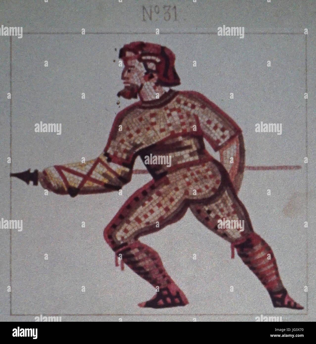 Mosaique N°31 jeux du cirque des promenades - Stock Image