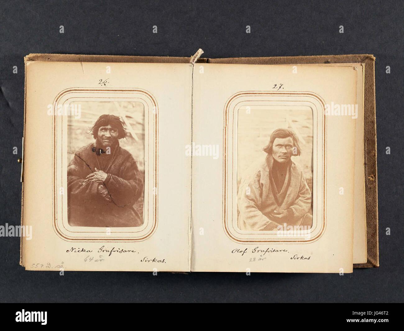 Olof Gruvvisare, 28 år gammal, same från Sirkas. Lotten von Düben 1868 - Nordiska Museet - NMA.0033113 - Stock Image