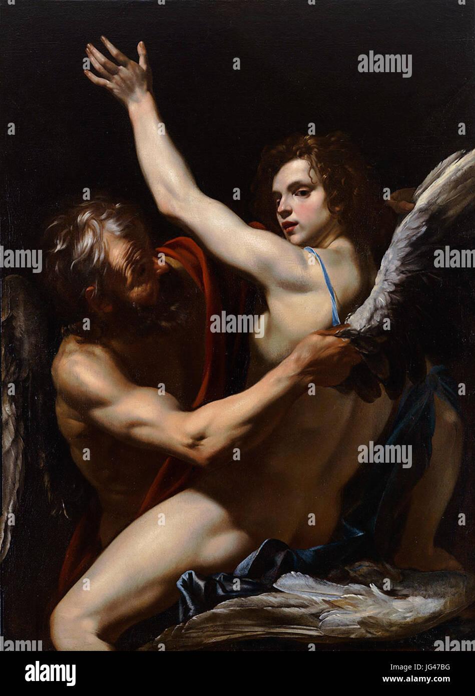 Orazio Riminaldi - Daedalus and Icarus - Stock Image