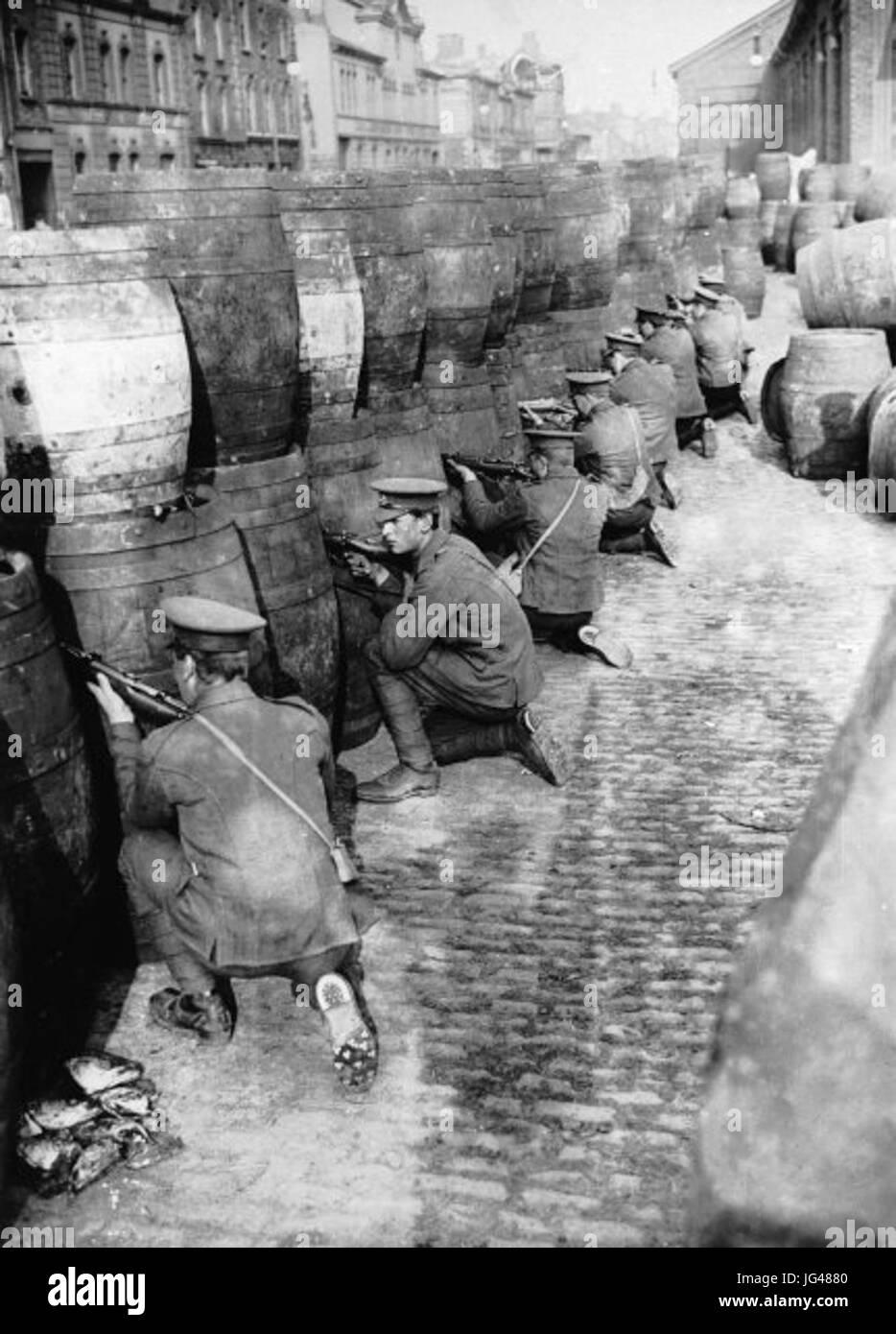 Osteraufstand - Dublin - britisches Militär - Stock Image