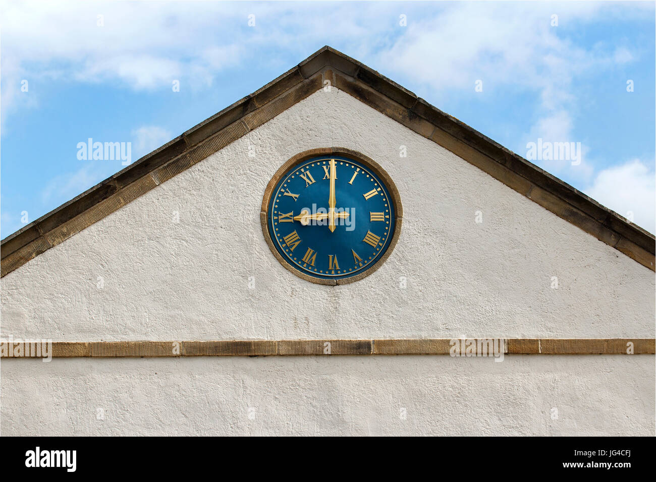 Town Hall Clock Face - Stock Image