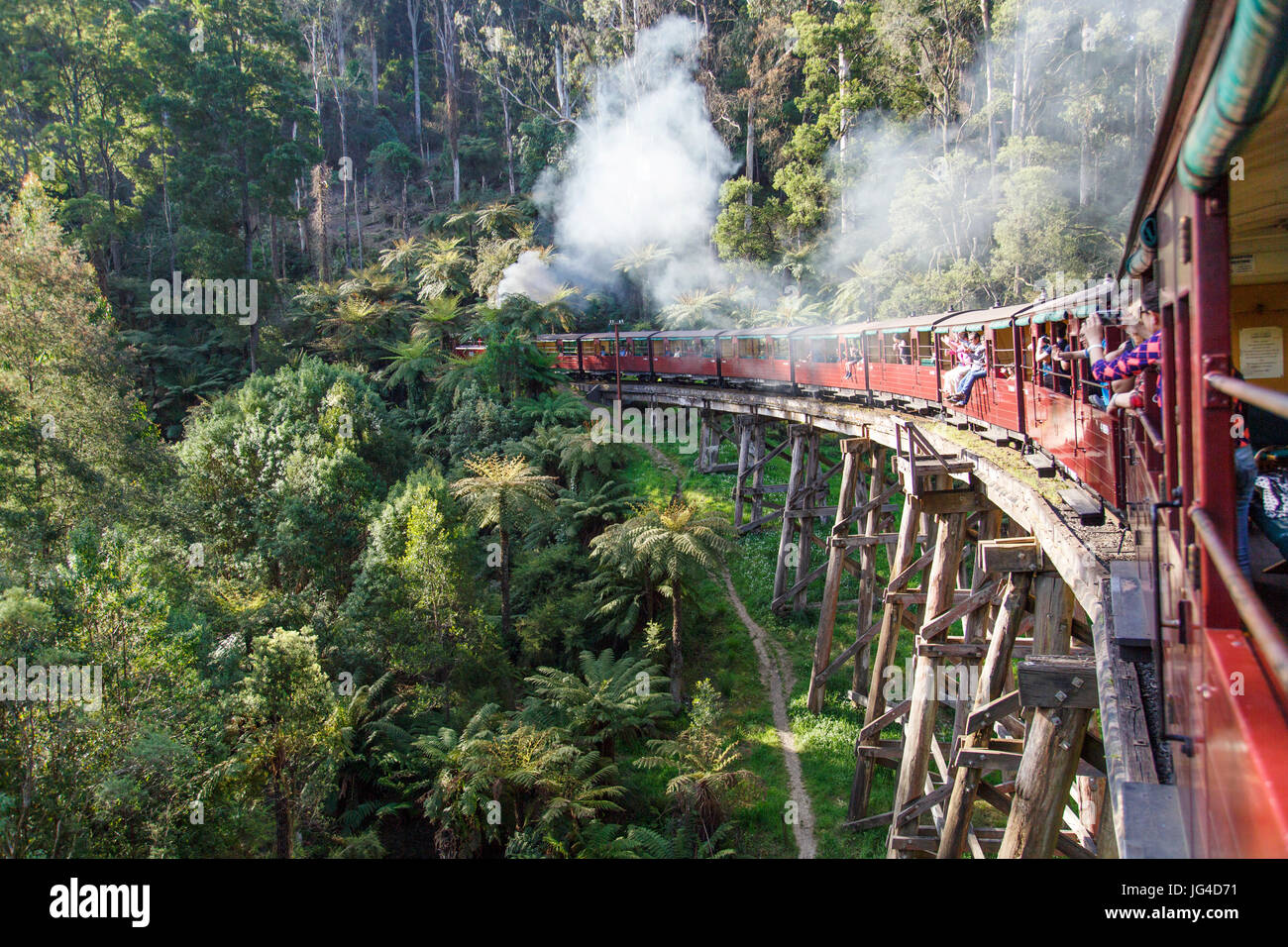 Puffing Billy Steam Train - Melbourne - Stock Image