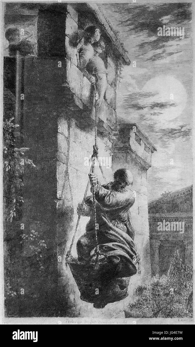 Paulus wird in Damaskus von seinen Schülern gerettet Stock Photo