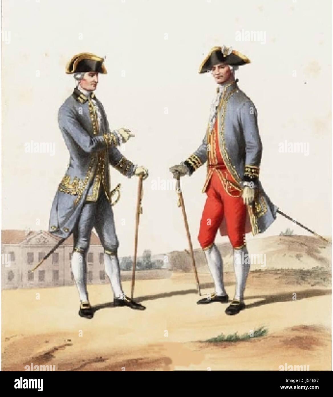Médecin et Chirurgien militaire Louis XVI - Stock Image