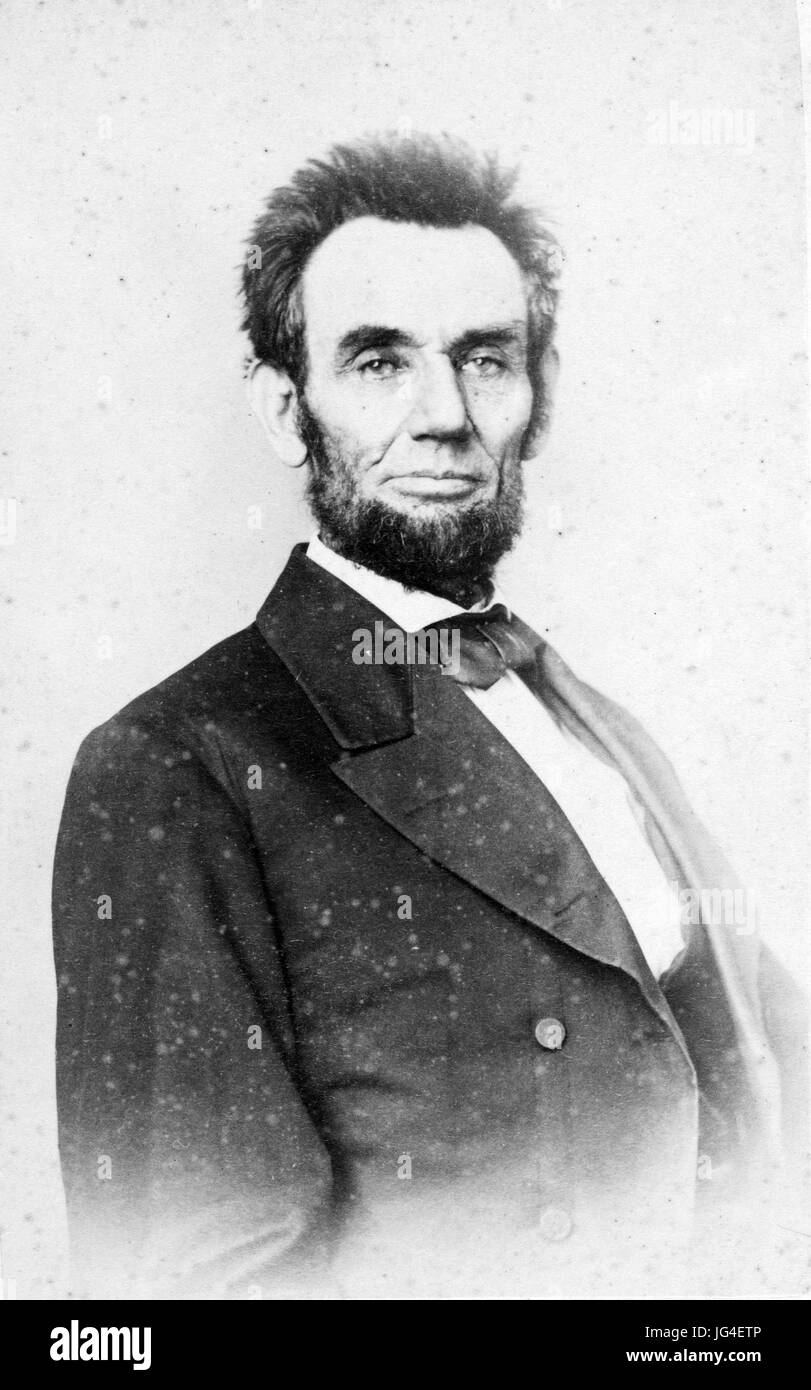 ABRAHAM LINCOLN (1809-1865) American lawyer and President about 1860 - Stock Image