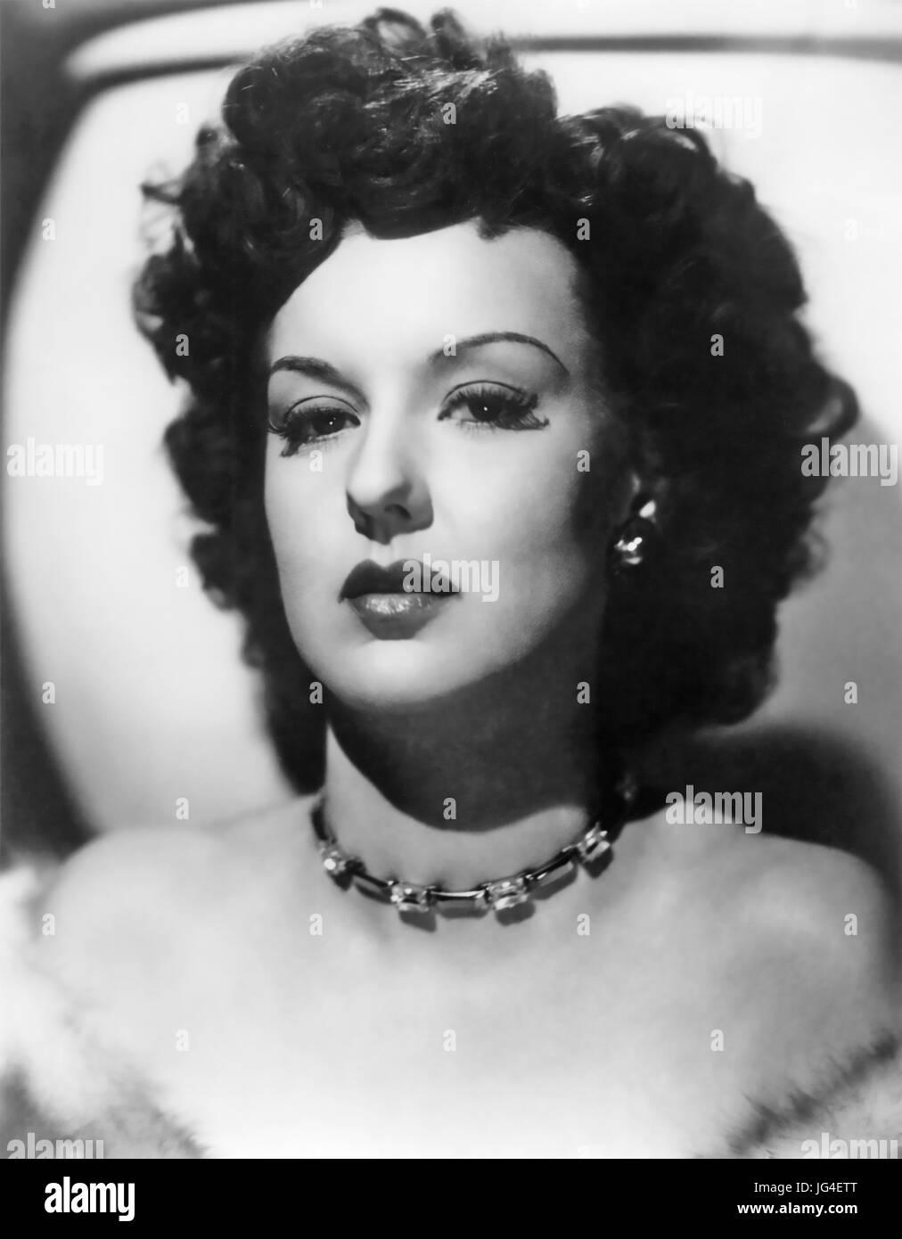ANN SAVAGE (1921-2008) US film actress in 1945 - Stock Image