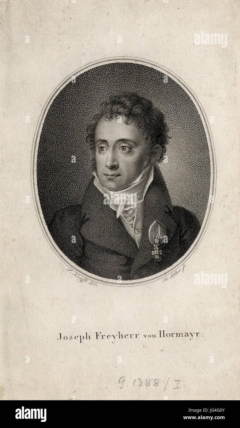 Peter Krafft Porträt Joseph Freyherr von Hormayr c1820 ubs G 1388 I Stock Photo